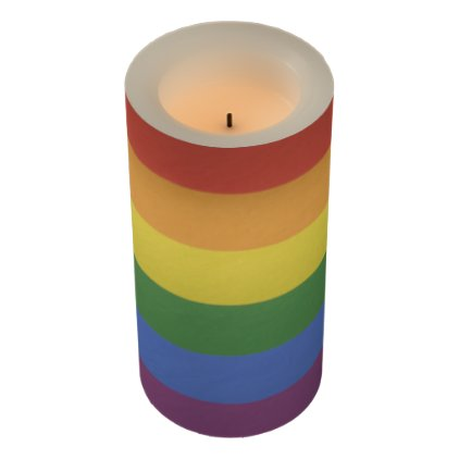 Customizable Rainbow Candle