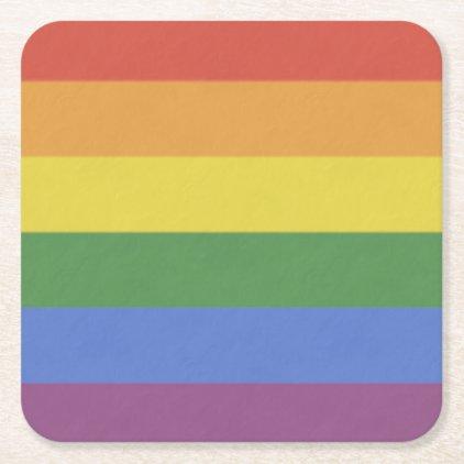 Customizable Rainbow Coaster