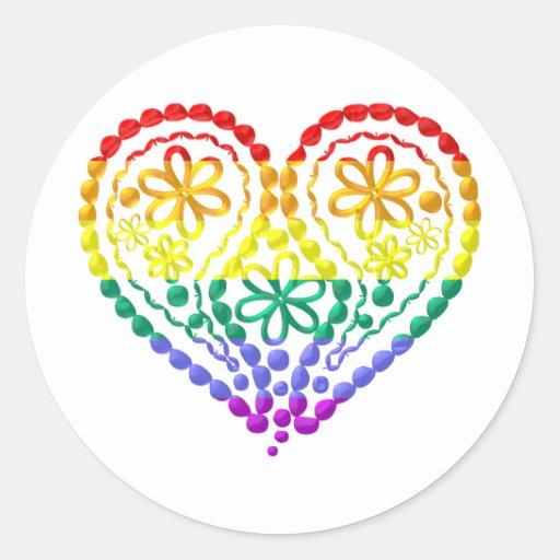 Customizable Rainbow Hearts (8) Sticker