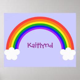 Customizable Rainbow Poster