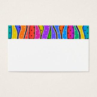 Customizable Rainbow STRIPES BUSINESS CARDS