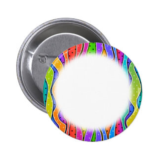 Customizable RAINBOW STRIPES Circle BUTTONS