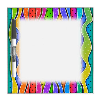 Customizable RAINBOW STRIPES DRY ERASE BOARDS