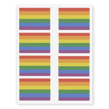 Customizable Rainbow Temporary Tattoos 8 sheet