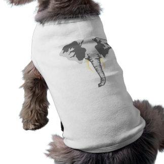 customizable realistic elephant with tusks dog tee