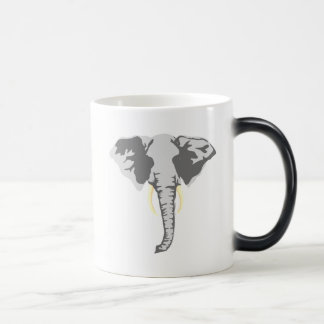 customizable realistic elephant with tusks coffee mug