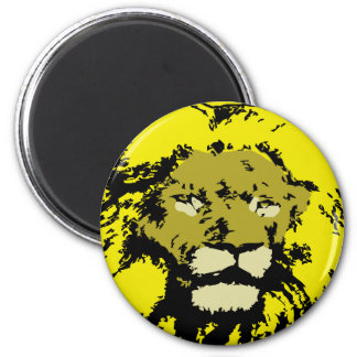 customizable realistic lion face 2 inch round magnet