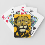 customizable realistic lion face Playing Cards