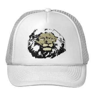 customizable realistic lion face trucker hat