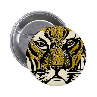 customizable realistic tiger face. button