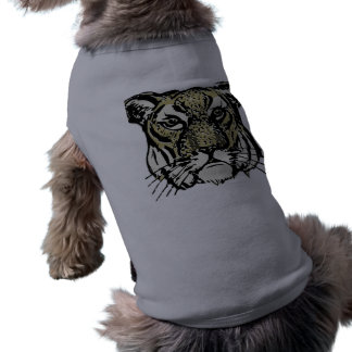 customizable realistic tiger face. pet t-shirt