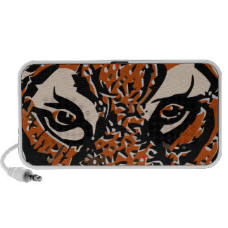 customizable realistic tiger face. laptop speakers