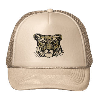 customizable realistic tiger face. trucker hat