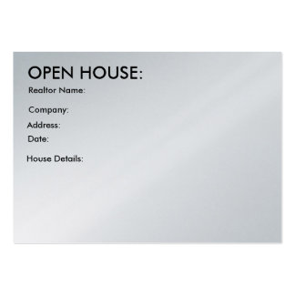 Customizable: Realtor's Open House Profile Card Large Business Cards (Pack Of 100)