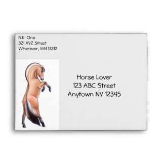 Customizable Rearing Norwegian Fjord Horse Envelop Envelope