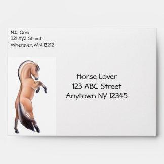 Customizable Rearing Norwegian Fjord Horse Envelop Envelope