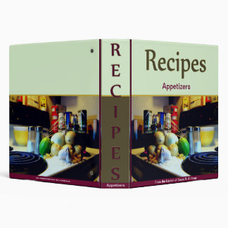 Customizable Recipe 3 Ring Binder