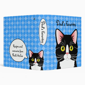 Customizable Recipe Binder Dad's Cats