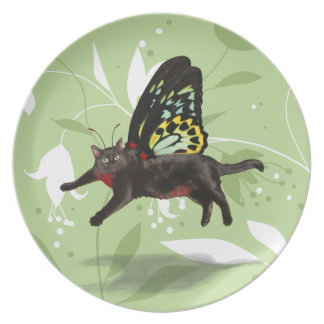 customizable Red bellied catniperious fairy Plate