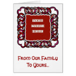 Customizable Red Celtic Knotwork Frame Card