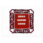 Customizable Red Celtic Knotwork Frame Postcard