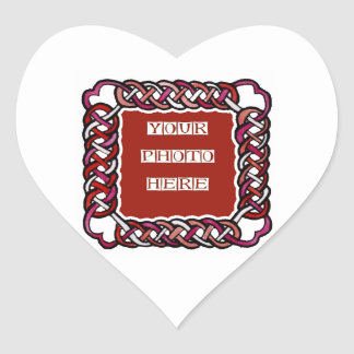 Customizable Red Celtic Knotwork Frame Stickers