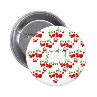 Customizable red cherry pattern accessories LeahG 2 Inch Round Button