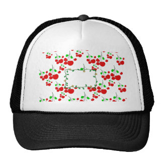 Customizable red cherry pattern accessories LeahG Trucker Hat