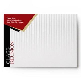 Customizable Red Class Reunion Envelope envelope