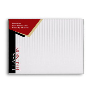 Customizable Red Class Reunion Envelope