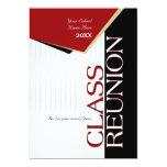 "Customizable Red Class Reunion Invitation 5"" X 7"" Invitation Card"
