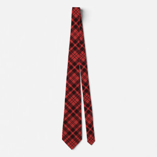 Customizable Red Flannel Inspired Diamond Tile Neck Tie