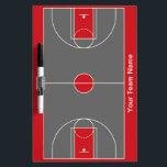 "Customizable red gray basketball dry erase board<br><div class=""desc"">Also available in these colors:</div>"