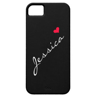 Customizable Red Heart iPhone5 Case