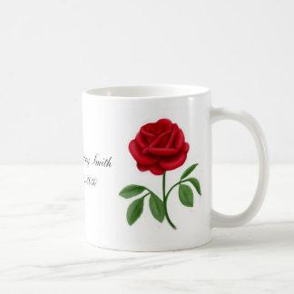 Customizable Red Rose Mug