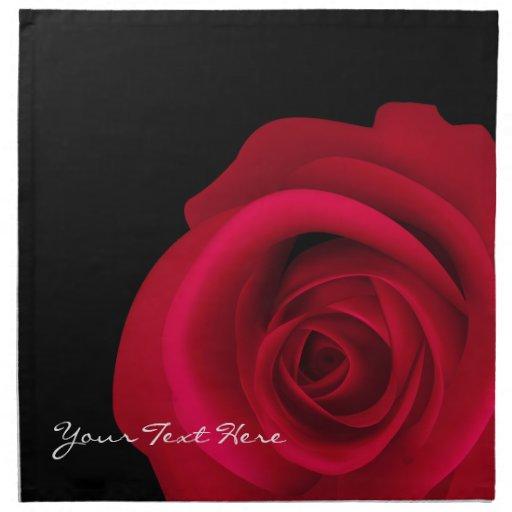 Customizable red rose valentine s day napkins zazzle