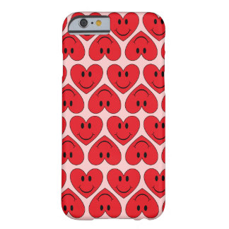 Customizable Red Smiley Heart Barely There iPhone 6 Case