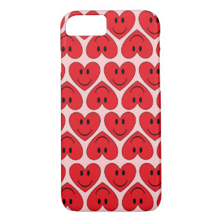 Customizable Red Smiley Heart iPhone 8/7 Case