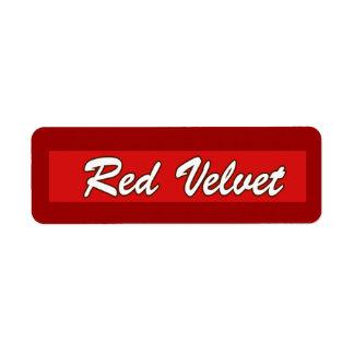 Customizable Red Velvet Bakery Labels