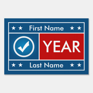 Customizable Red White and Blue Yard Sign