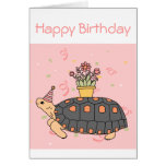 Customizable Redfoot Tortoise Birthday Card 3