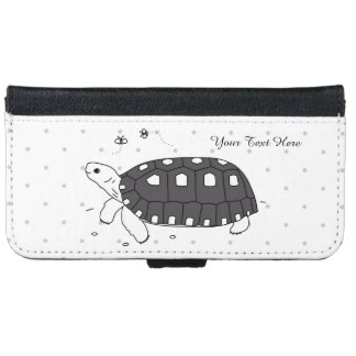 Customizable Redfoot Tortoise Phone Wallet Case