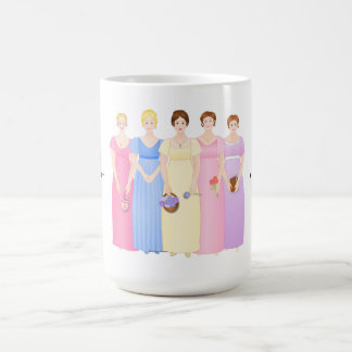 Customizable Regency Era Sisters Classic White Coffee Mug
