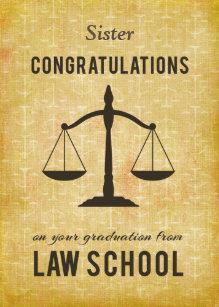 Law School Graduation Cards   Zazzle