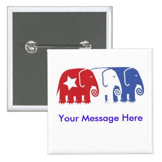 Customizable Republican Elephants Pinback Button