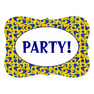 Customizable Retro Boomerangs 5x7 Paper Invitation Card