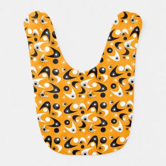 Customizable Retro Boomerangs Baby Bib