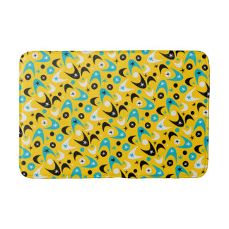 Customizable Retro Boomerangs Bathroom Mat