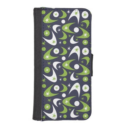 Customizable Retro Boomerangs iPhone SE/5/5s Wallet