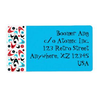 Customizable Retro Boomerangs Label